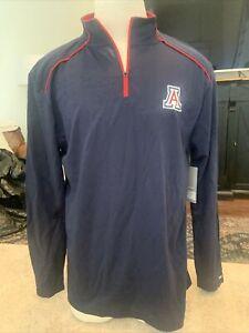NEW University Of Arizona Wildcats Colosseum Blue 1/4 Zip Eastwood Shirt Men's L