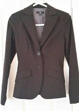 Womens dark brown almost black corporate fitted Cue jacket size 6