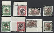 1944 CONGO BELGA/RUANDA URUNDI, COB n° 270/273+150/153  8 valori  MNH/**