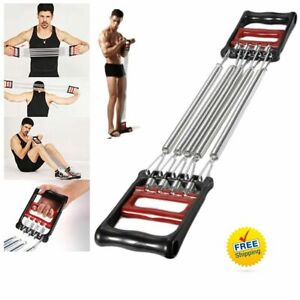 Abs 5 Spring Chest Expander Exercise Puller Muscle Stretcher Training Gym Pull