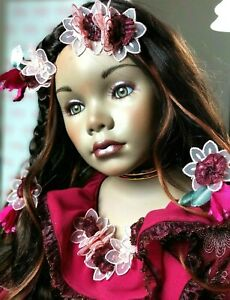 "EXOTIC FLOWER ""PALOMA"" FLORENCE MARANUK/ SHOW STOPPERS DOLL COLLECTION NEW"