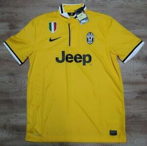 Juventus Jersey Shirt 100% Original Men's L 2013/2014 Away Yellow Kit Jeep