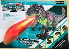 Simulated Flame Spray Tyrannosaurus T-Rex Dinosaur Toy Kids Walking Dinosaur