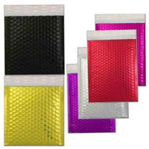 Metallic Padded Envelopes Bubble Foil Lined C3 C4 CD DVD Shiny Mailing Gift Bags