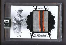 2018 Flawless Black Mel Ott New York Giants HOF Game Used 3-Color Patch 1/1
