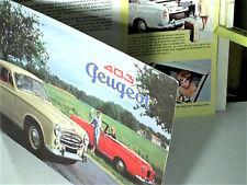 TRES BEAU CATALOGUE  PEUGEOT 403 CABRIOLET & BERLINES 1960