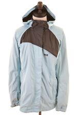 HELLY HANSEN Womens Rain Jacket Siz 16 Large Blue Nylon