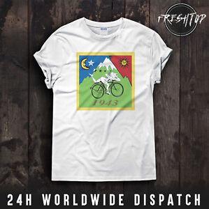 Albert Hofmann LSD Trip T Shirt Bicycle Day 1943 Acid Psychedelic Meth Drugs