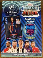 Topps Match Attax UEFA Champions League Soccer 2 Player Starter Box 2018/2019