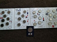 More details for complete 2018  a-z 10p full set 26 coins in new official royal mint case + medal