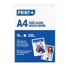 A4 Alta Lucentezza Bianco luminoso rivestito a getto d'inchiostro stampante laser fogli di carta fotografica 235gsm