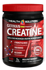 German Creapure Creatine 100% Pure Micronized Monohydrate Powder 500g 1 Can