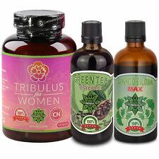 TRIBULUS women 120caps | Green tea 100ml | Ginko Biloba 100ml | Immune System