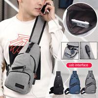 Oxford Cloth Chest Bag Men Zipper Outdoor Casual Crossbody Phone Belt Pouch