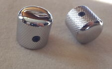 METAL DOME KNOBS for ELECTRIC GUITAR CONTROL VOLUME TONE MIGHTY MITE CHROME