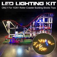LED Lighting Light Kit Set for LEGO Roller Coaster 10261 Blocks Bricks Toys DIY