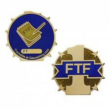 First To Find Full Size Geocoin Geocaching Trackable Official