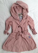 New with Tags Girls E3M / Eeni Meeni Vintage Balloon Trench Coat Size 2 RRP $150