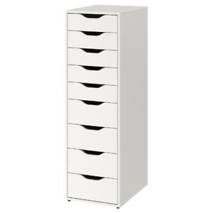 Brand New IKEA ALEX White Drawer Unit Office Storage Organizer 904.861.39