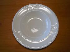 """Royal Doulton Hotel England SILHOUETTE White Set of 5 Rimmed Bowls 9 3/8"""""""