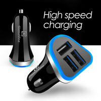 5.1A Triple USB Car Charger 3 Ports Universal Charging For Samsung iPhone HTC