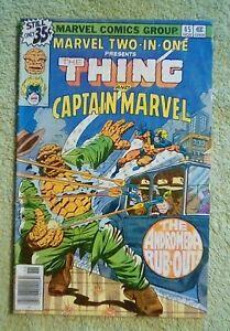 Marvel Two-In-One #45 (Marvel, 11/78) 4.0 VG (starring Thing & Captain Marvel)