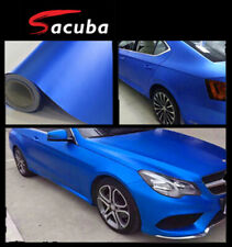 1.5M x 18M Icy Metallic Dark Blue Matte Chrome Vinyl Car Decal Sticker Wrap