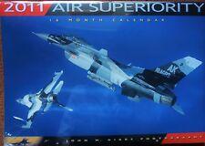 New: AIR SUPERIORITY Aircraft Calendar JOHN DIBBS, 16 month Zenith Press, 2011
