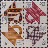 RJames: US 1745-1748, 1748a Basket Quilts setenent , MNH