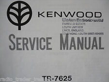 KENWOOD (TRIO) TR-7625 (SERVICE MANUAL ONLY)............RADIO_TRADER_IRELAND.