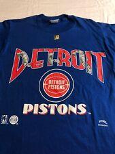 VTG 90s Detroit Pistons Basketball T Shirt Medium Nutmeg Made in USA NBA NOS