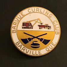 New listing VINTAGE CURLING PIN BARVUE CURLING CLUB QUEBEC (Birks missing screw on back)