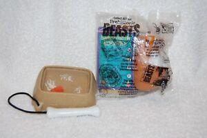 Set of 2  ARBYS Prehistoric Beasts Kids Meal Toys 2001