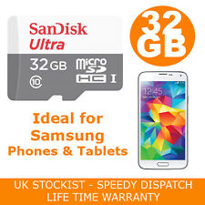 SANDISK ULTRA 32GB MICRO SD CARD PER SAMSUNG GALAXY S2 S3 S4 S5 Mini Neo Class10
