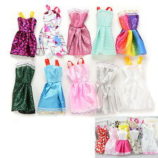 10PCS Handmade Party Clothes Fashion Dress for Barbie Doll Mixed Charm U2