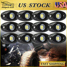 White Led Rock Lights 12 Pods Underbody Wheel Light For Jeep Offroad Truck Atv