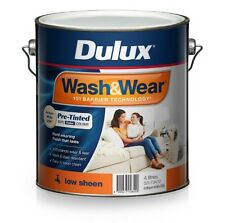 Dulux Wash&wear Pre Tinted INT Paint Stain Resist Low Sheen Antique White USA 4l