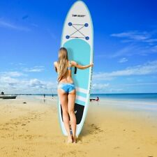 New listing 🔥 10' Inflatable Stand Up Paddle Board Surfboard Adjustable Fin Paddle Beach