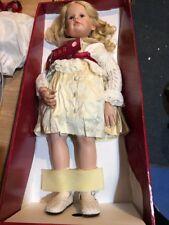 "Rare GOTZ Victoria 28"" Doll 165/750 Hildegard Gunzel Ivory Dress Blonde BlueNew"