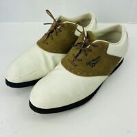 Reebok White / Brown Leather Saddle Golf Shoes US Mens size 8