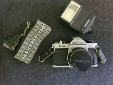 PENTAX K1000 SE Asahi 35MM Film Camera w/ Pentax-M 1:2 50mm Lens, Flash, Strap