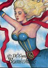 DC Comics Bombshells Sketch Card 1/1 By Nathan Szerdy