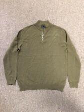 NWT Men's Gap Hunter Green Half Zip Pullover Sweater size Large