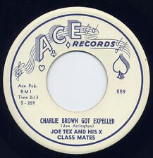 "JOE TEX - ""CHARLIE BROWN GOT EXPELLED"" b/w ""BLESSED ARE THESE TEARS"" on ACE VG++"