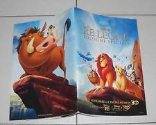Libro quaderno IL RE LEONE Edizione speciale Walt Disney NUOVO 2011 PROMO dvd