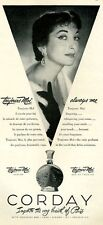 1951 Corday PRINT AD Toujours Moi Perfume Features both French & English Text