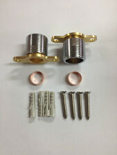 Thermostatic Shower Mixer Fast Fix Easy Fit Kit Wall Brackets