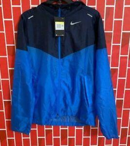 Men's NWT Nike Windrunner Hooded Running Jacket Comfort CK6341-402 Blue Size S