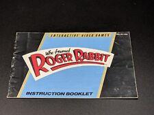 WHO FRAMED ROGER RABBIT Instruction Manual Nintendo NES EX condition