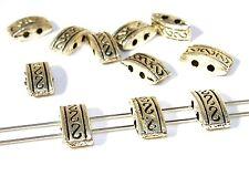 Metallperlen, Beads, 2 Loch Verbinder, Tibet, Silber, 5 Stück #U52